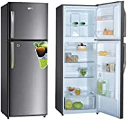 Super General 410 Liter Gross Compact Refrigerator/ Silver/ LED Lighting/ Child-Lock/ Frost-Free/ 60 x 65 x 17