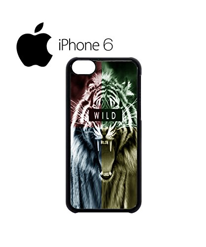 Wild Animal Tiger Tumblr Blogger Mobile Phone Case Back Cover Hülle Weiß Schwarz for iPhone 6 Plus White Schwarz