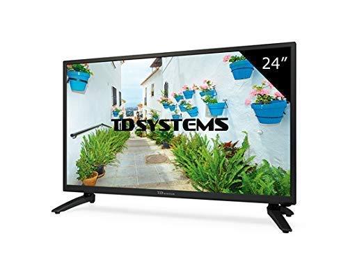 TD Systems k24dlh8h–TV LED da 24' (HD, HDMI, VGA, USB lettore e registratore) Colore nero