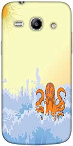 Snoogg summer illustrattion Hard Back Case Cover Shield For Samsung Galaxy Core 2