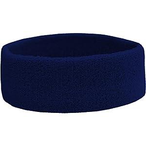 Terry Headband – Frottee Stirnband für Sport & Freizeit Farbe Navy