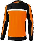 Erima Herren Sweatshirt 5-Cubes, Orange/Schwarz/Weiß, L, 107508