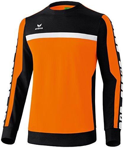 erima Herren Classic 5-C Sweatshirt, orange/schwarz/weiß, M -