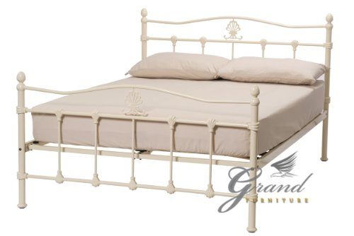 Victorian Style Metal Bed Frames : Exclusive boston victorian style cream metal bed frames