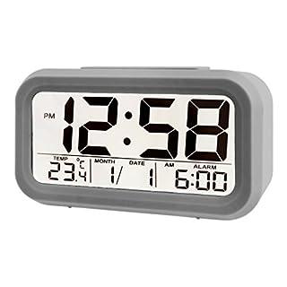 Acctim 15617 Silo Multifunction LCD Alarm Clock in Pigeon Grey