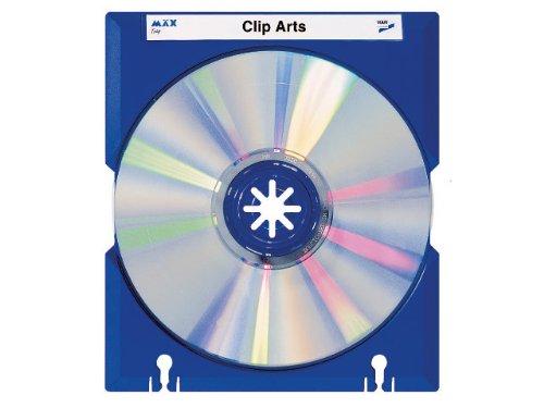 Preisvergleich Produktbild HAN 9201-14, CD-Träger MÄX-Tray, Praktisch und Professionell, für 1 CD, mit Beschriftungsetiketten, 10er Packung, blau