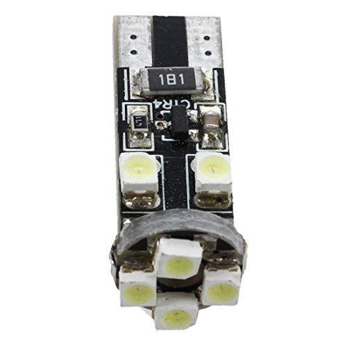 TOOGOO(R) 2x SMD LED T10 W5W 12V Xenon Blanc avec 8 SMD Ampoule pour Feux de stationnement Feux de Parking