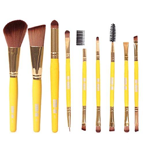 rosennie-9pcs-makeup-cosmetic-brushes-eyeshadow-eye-shadow-foundation-blending-brush-kit-yellow