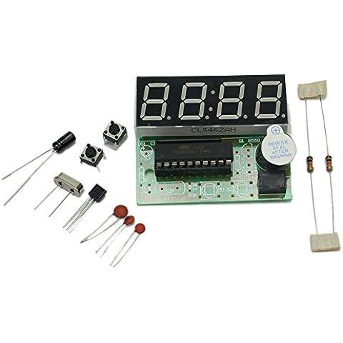 Kit de DIY Reloj Electrónico AT89C2051 4 Bits Digital Tubo Accesorio Práctico