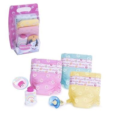 Famosa 700009027 Nenuco - Pack de pañales de colores para muñeco de Nenuco