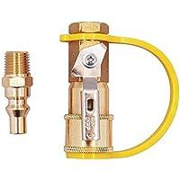 Kit de conexión rápida de gas natural de 1/4 pulgadas, válvula de apagado de latón y enchufe de flujo completo, adaptador de gas natural y propano para sistemas de propano/gas de baja presión