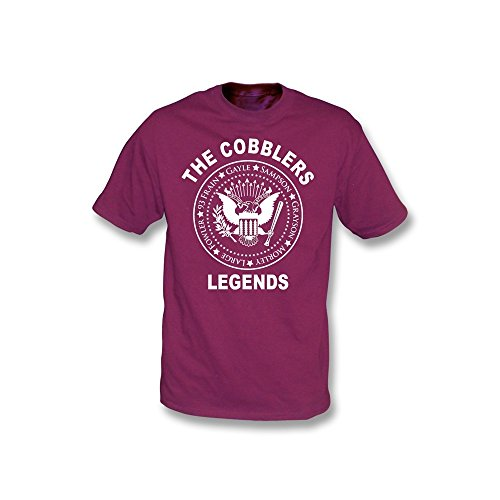 Schuster-Legenden Ramones-Art-T-Shirt Kastanienbraun