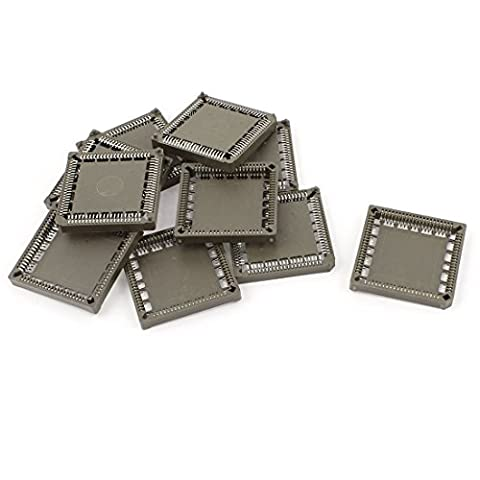 sourcingmap® SMD SMT Square PLCC84P PLCC 84Pin IC Sockets Brown