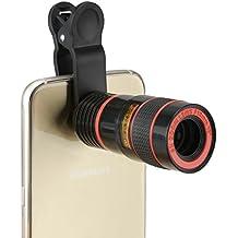 BlueBeach® Clip telescopio zoom de la cámara del teléfono móvil universal 8x óptico para el iPhone, HTC, Sony, Samsung, teléfono inteligente, iPad, Android, Motorola, Tablet PC