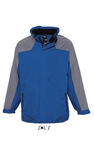 L945 Unisex Parka Reflex Winterjacke Übergangsjacke Jacke Royal Blue-Silver