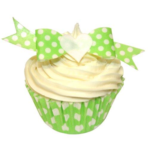 12-x-senza-zucchero-decorazioni-torte-pois-verdi-arcobaleno-wafer-toppers