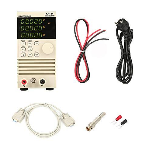 Voltmetro Digitale, Akozon KP184 Voltmetro Amperometro Digitale Misuratore di Potenza Carico Tester di Capacità della Batteria con Carico Elettronico RS485 / 232 400W 150V 40A(EU)