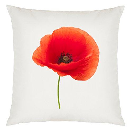 Preisvergleich Produktbild Single Poppy Bild Design Große Kissen Bezug mit Füllung