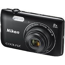 """Nikon COOLPIX A300 Compact camera 20.1MP 1/2.3"""" CCD 5152 x 3864pixels Black - Digital Cameras (20.1 MP, 5152 x 3864 pixels, 1/2.3"""", CCD, 8x, Black)"""