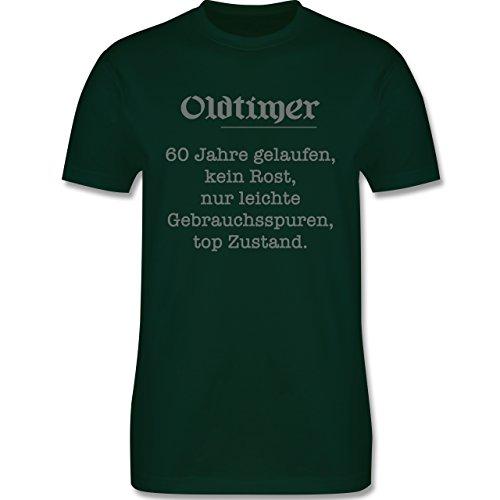 Geburtstag - 60. Geburtstag Oldtimer Fun Geschenk - Herren Premium T-Shirt Dunkelgrün