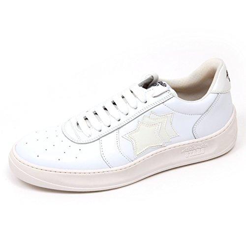 Atlantic Stars D0892 Sneaker Uomo Drake VBB TE94 Scarpa Bianco Shoe Man Bianco