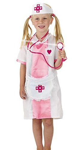Kinder Kostüm Ärztin Krankenschwester Gr.M 6-8 Jahre Fasching Karneval ()