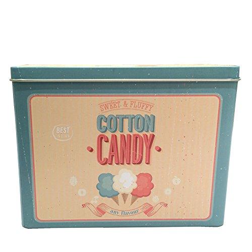 Knäckebrotdose Keksdose Gebäckdose Blechdose Vintage eckig, ca. 18 x 7.4 x 13.8 cm, Cotton Candy