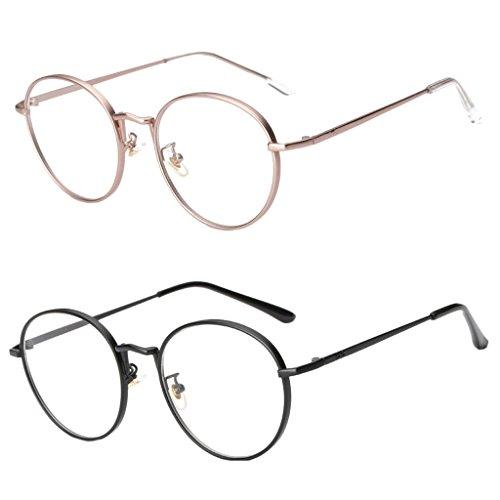 Sharplace 2 Stücke übergroße Klassische Retro Brille Objektiv - Rose & Schwarz, Wie beschrieben
