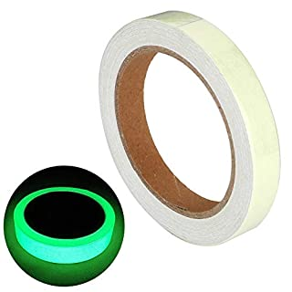 Gebildet Glow in The Dark Self-Adhesive Tape, Green Light Luminous Tape Sticker, 32.8 ft x 0.4 inch (10m x 1cm): Waterproof, Removable, Durable, Wearable, Stable, Safety