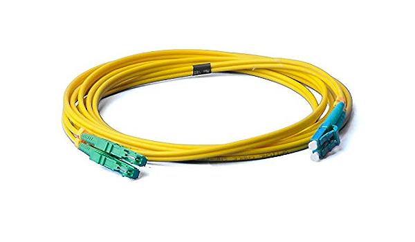 Lwl Glasfaser Kabel 10m Os2 Gelb E2000 Apc Auf Lc Elektronik