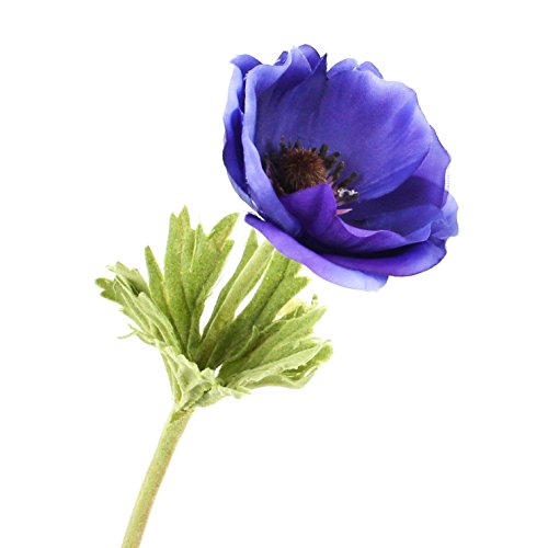 artplants Set 6 x Künstliche Anemone, dunkelblau, 30 cm, Ø 7 cm – Kunstblume/Dekoblume