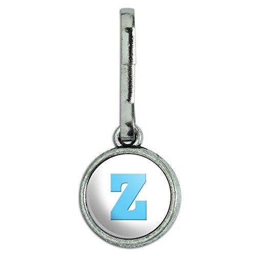 antik-charm-kleidung-geldborse-gepack-rucksack-zipper-pull-buchstabe-baby-boy-block-schriftart-blau-