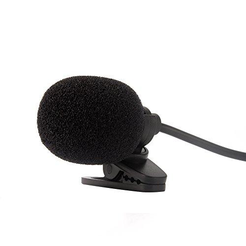 NAVISKAUTO 3,5mm Externes Mikrofon Mic Klinke Klinkenstecker 2M Kabel Plug und Play Freisprech für Autoradio Moniceiver Naviceiver Auto DVD Player Notebook Laptop Schwarz (Y0031)