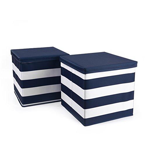 HOMIE 2er SET Ordnungsbox, Aufbewahrungskiste, Aufbewahrungsbox, Spielzeugkiste (30 x 30 x 30 cm) Maritim