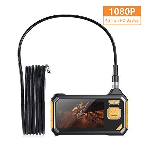ieendoskop, 1080P HD Semi-Rigid Flexible Snake-Kamera mit 6 LED-Leuchten Digital Video Recording Handheld Endoscope, IP67 Waterproof,Snake tube-3M ()