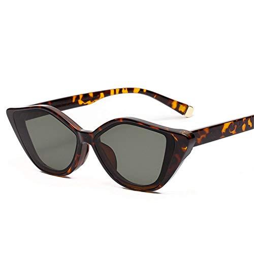 Sport-Sonnenbrillen, Vintage Sonnenbrillen, NEW Fashion Cat Eye Sunglasses Women Fashion Designer Sun Glasses Men Retro Small Spiegel Famale Black Glasses UV400 as picture White