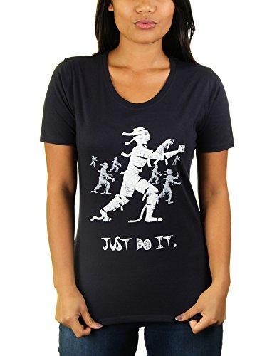 Mummie Workout - Damen T-Shirt von KaterLikoli, Gr. L, French Navy