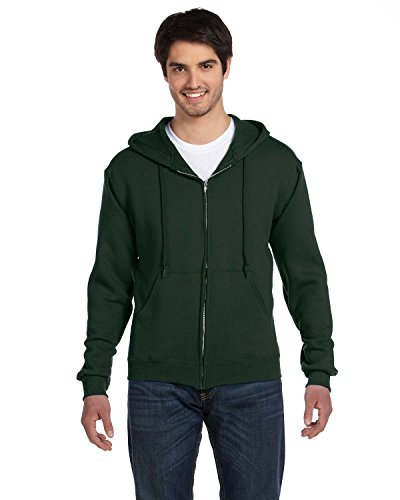 Adult 12 oz. Supercotton� Full-Zip Hood FOREST GREEN S Adult Full-zip Sweater