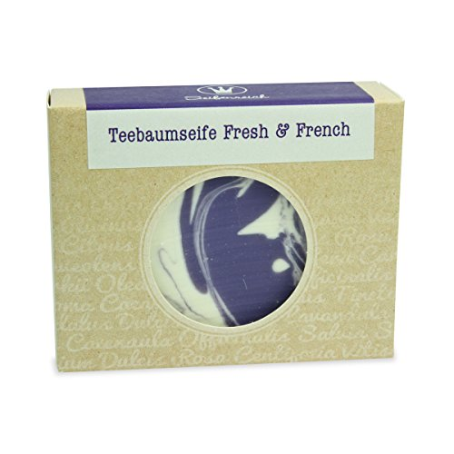 Seifenreich Teebaum Lavendel Seife Fresh und French, 1er Pack (1 x 100 g) -