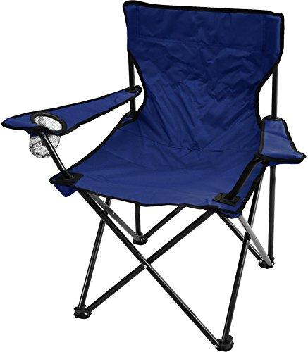 Campingstuhl Faltstuhl Klappstuhl Anglerstuhl Getränkehalter Stuhl Gartenstuhl bis 110 kg Farbe Marine