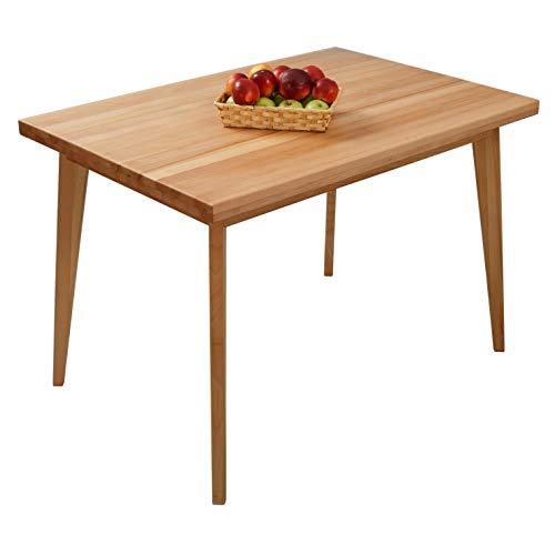 Krokwood Hans Massivholz Esstisch in Buche 110x75x75 cm FSC 100% massiv Tisch geölt Buchenholz Esszimmertisch für Küche praktischer Küchentisch fester Holztisch vom Hersteller und kostenlose Lieferung