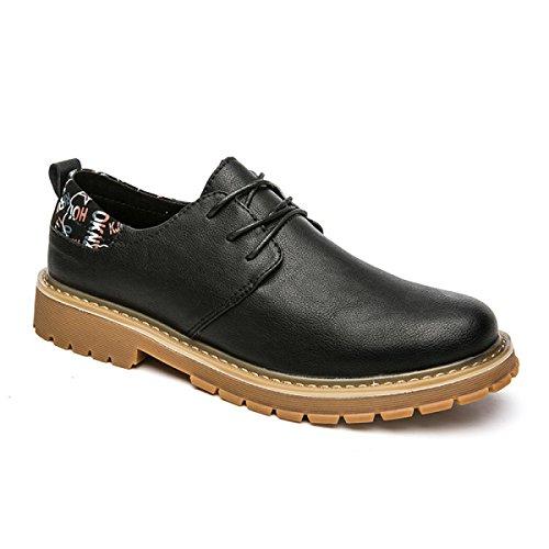 Autunno E Inverno Retro Uomini Stivali Martin Versione Coreana Gioventù Stivali Da Lavoro Inghilterra Fondo Spessa Grandi Scarpe Testa Black