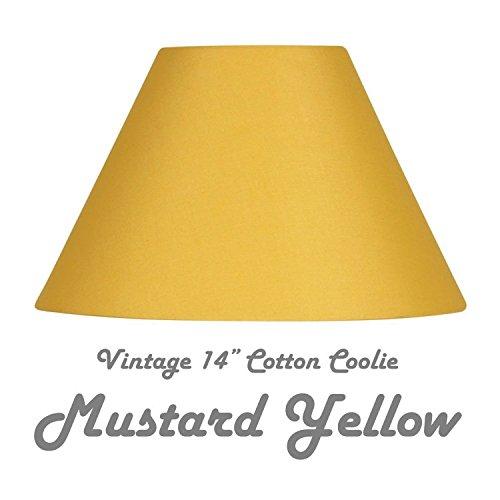 senape giallo 35,6 cm cotone Coolie duro foderato paralume completo  reversibile con giunto cardanico to fit Table \u0026 lampade da terra o da  soffitto rose.
