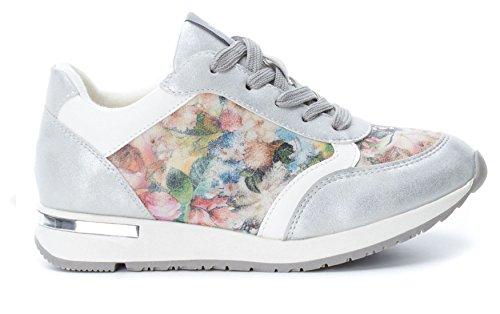XTI 046703, Zapatillas para Mujer, Plateado (Silver), 36 EU