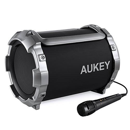 Altoparlante Bluetooth stereo 21 W con funzione Aux – in e microfono per Karaoke.