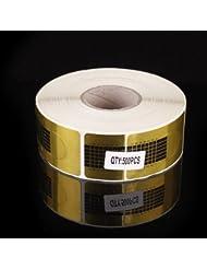 500 pièces chablons papier construction faux ongles gel uv ou resine BS-31