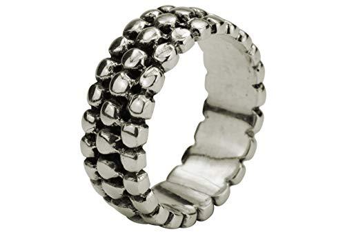 SILBERMOOS XL Ringe in großen Größen Damen u. Herren Ring Partnerring gepunktet grobe Struktur Punkte Sterling Silber 925 Größe 64, 66, 68, 70, 72, Größe:66 (21.0)
