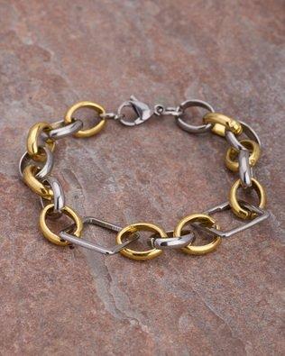 Voylla Fashion Silver Metal Bracelet For Men