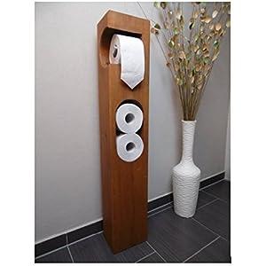 Toilettenpapierhalter Holz Eiche massiv