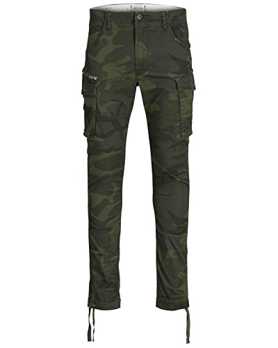 Jack & Jones Men's Jjipaul Jjchop Ww Forest Night Camo STS Trouser